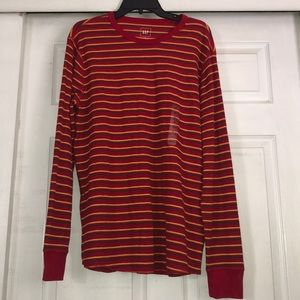 Gap XL thermal striped long sleeve shirt nwt